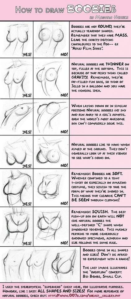 How to draw boobs, ya never know when this will come in handy!
