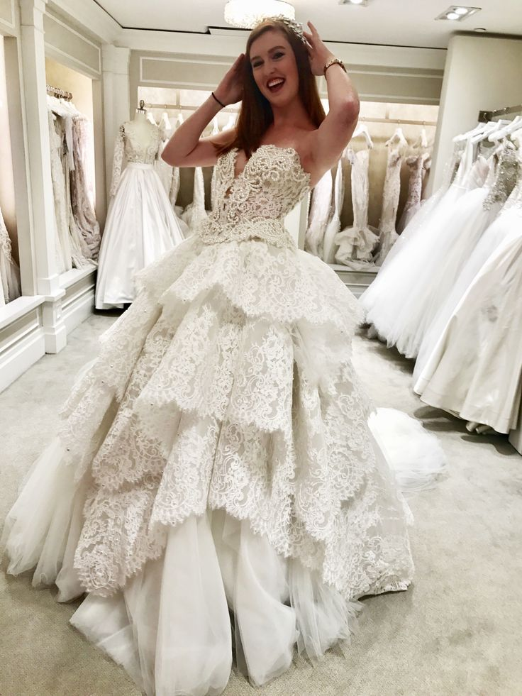 Pnina Tornai ballgown from Kleinfeld Bridal in New York