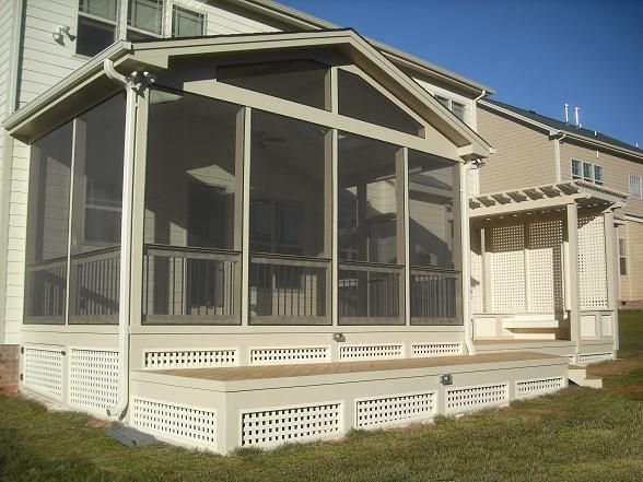 1000 images about under deck ideas on pinterest stains for Screen porch roof options