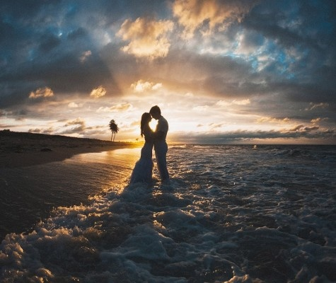 East coast means sunrise wedding shoot to get the colors