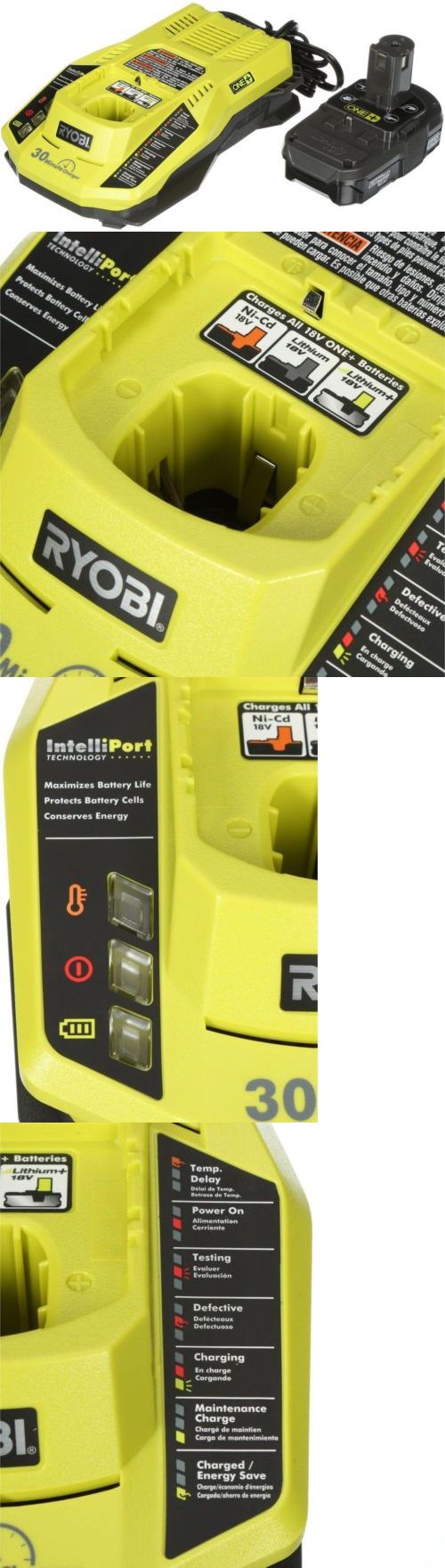 Batteries and Chargers 122840: Ryobi One+ 18-Volt Lithium-Ion Battery And Intelliport Charger Upgrade Kit -> BUY IT NOW ONLY: $56.97 on eBay!