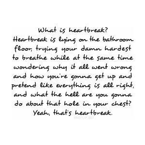 Heartbreak. Emo QuotesSad Love ...