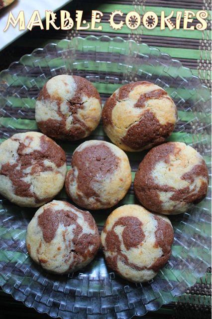 YUMMY TUMMY: Eggless Marble Cookies Recipe