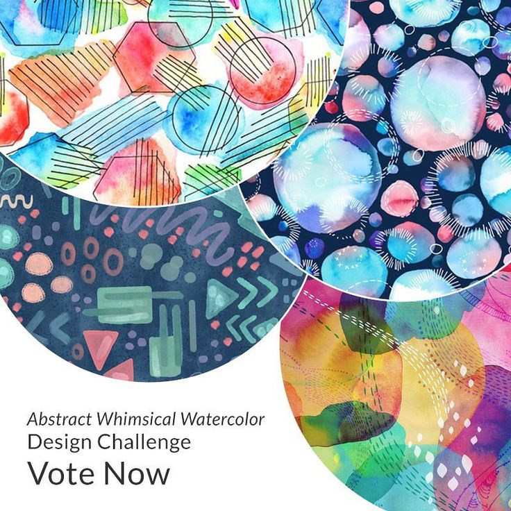 "462 Likes, 4 Comments - @spoonflower on Instagram: ""Last chance! Don't forget to cast your vote for the Whimsical Watercolor 🎨 Abstract 〰 @skillshare…"""