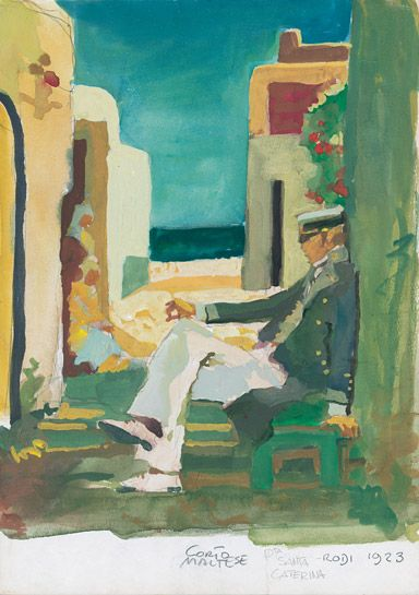 """Corto Maltes - Hugo Pratt: Rodi 1923, """"Corto Maltese – La Maison dorée de Samarkand"""", 1987"""