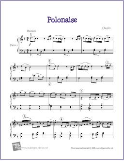 69 best piano sheet music images on pinterest piano pianos and easy version polonaise op 53 heroic free sheet music for piano fandeluxe Image collections