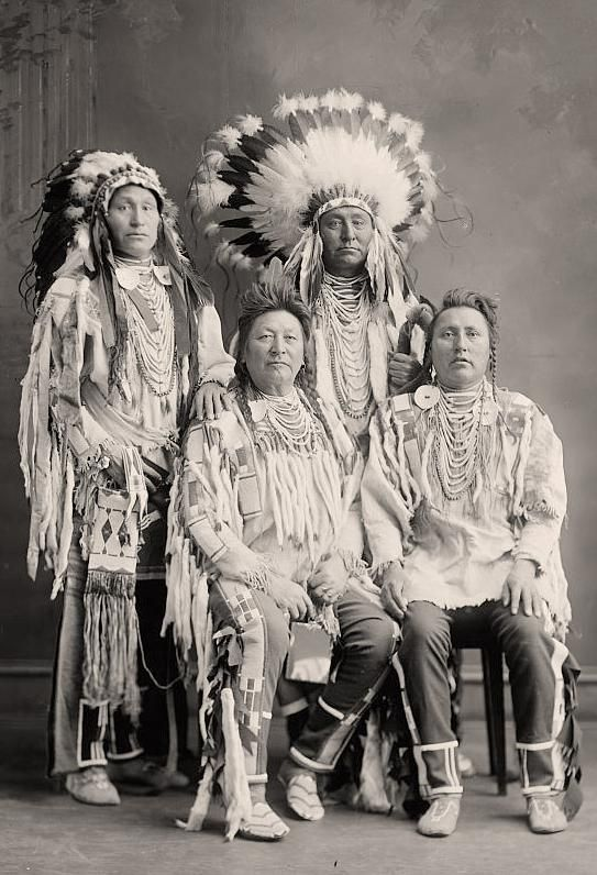 Crow Indian Group. It was taken between 1905 and 1945 by Harris  Ewing.