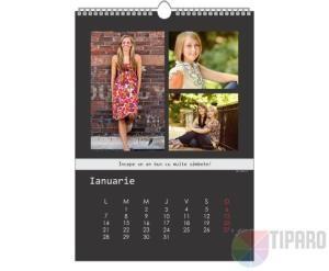 Un calendar personalizat cu pozele tale si mesaje motivationale