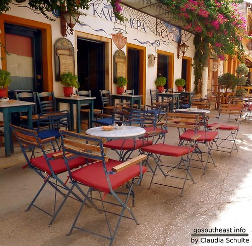 GREECE CHANNEL | Cafe in Paxoi Island - Ionean Sea - Greece