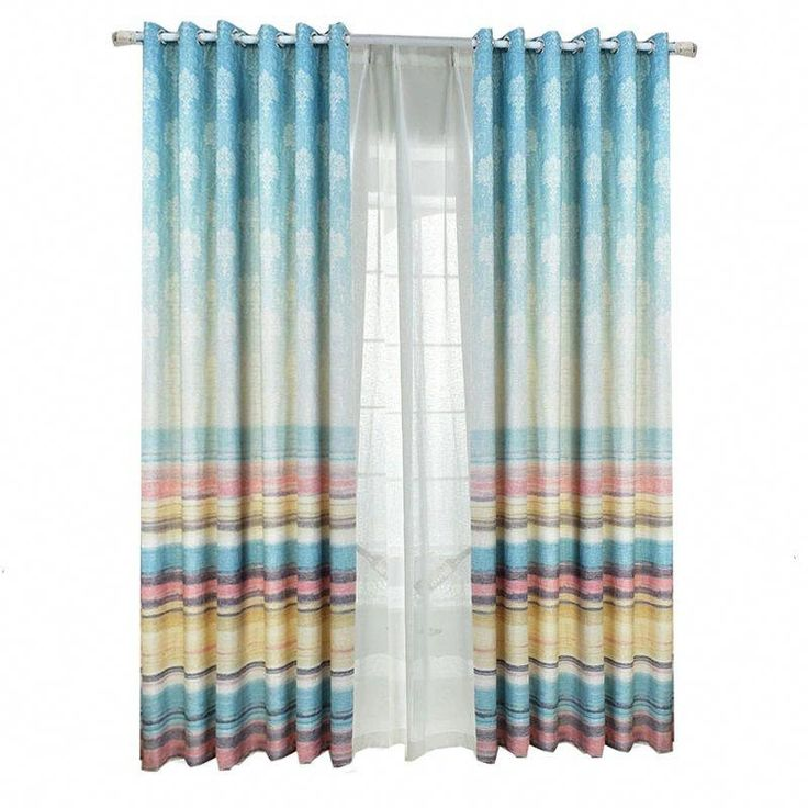 Funky Horizontal Striped Thermal Curtains For Patio Doors