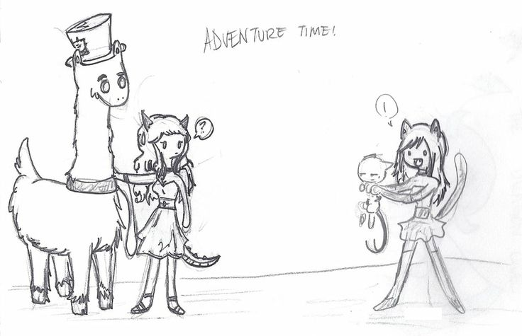 Lydia and Llama meet my other character Alice. Oh and her pet demon cat Duke