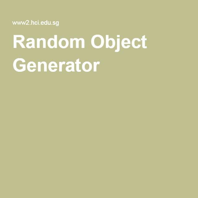 Random Object Generator