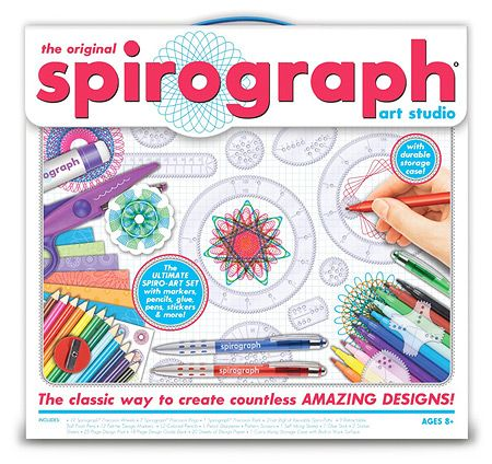 The Original Spirograph Art Studio by Kahootz - $39.95  We could never afford this when I was a kid.  I might get one now.