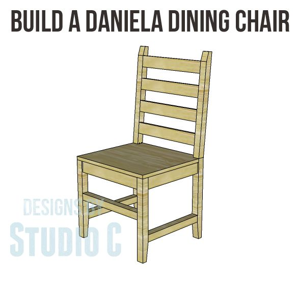 Build One Chair or Several with the Daniela Dining Chair Plans! I really love this chair design and am considering building these for myself! The Daniela dining chair plans are really easy to build...
