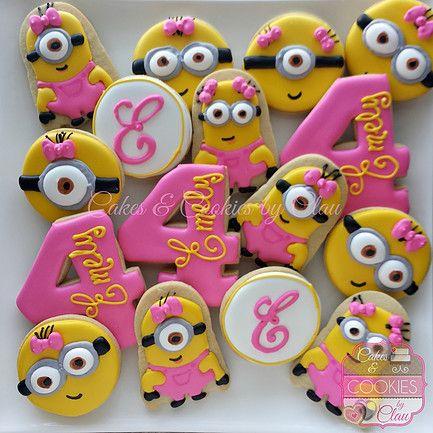 Girl Minions Cookies