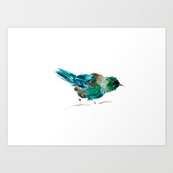 Tui Tuesday Art Print by Art By Chrissy Taylor - $22.00
