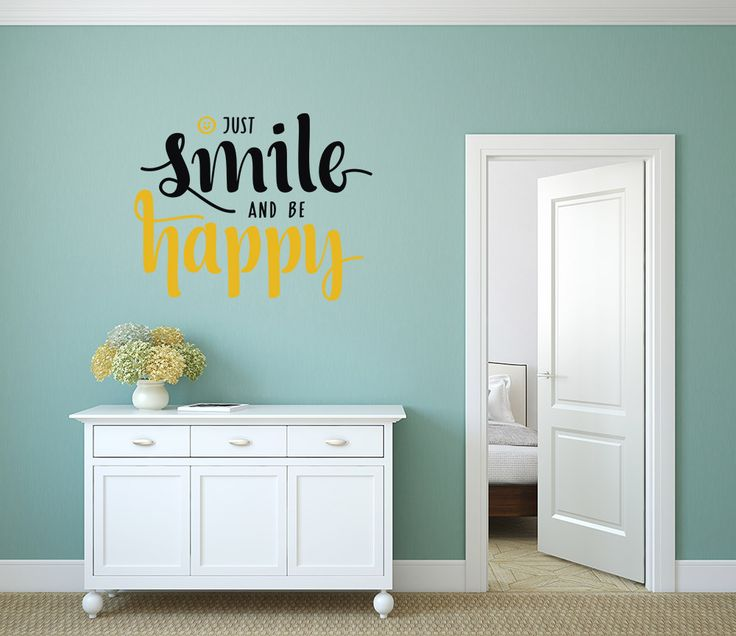 Smile and be Happy - Vinilos Decorativos Fotomurales Adhesivos - Medellín