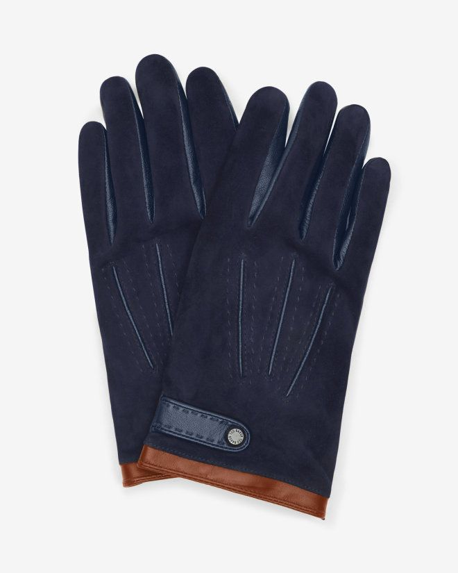 SHOP FOR HIM: You've got to hand it to Ted; he certainly knows a thing or two about accessorising. The REGGIE gloves have been crafted from soft leather and suede, giving you dapper style in the click of a finger.