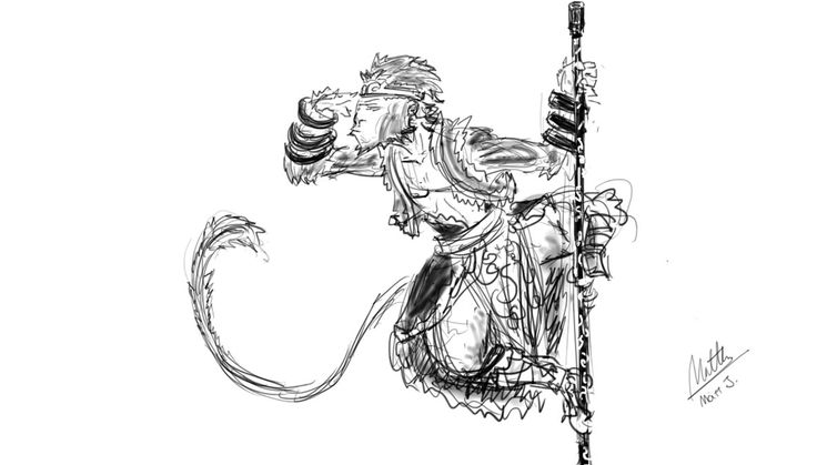 Line Art Monkey : Best journey to the west images on pinterest monkey