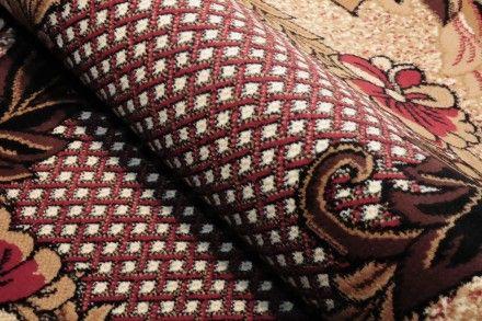 Dywan tradycyjny Krata czerwień. Klasyczny dywan z wzorem kratki w kolorze czerwonym.