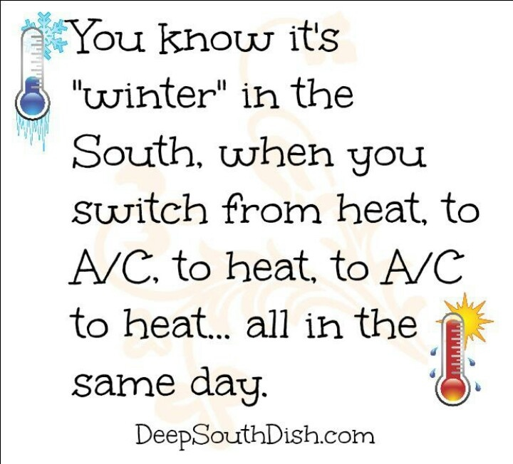 You know it's winter in the south when you...quote