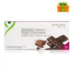 Triple Chocolate Protein Meal Replacement Bars Non GMO Gluten Free