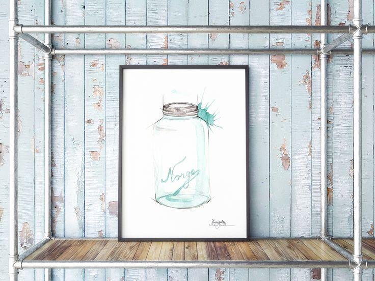 """""""Norgesglass""""     Norwegian brand by illustrator/artist Mona Stenseth Erlandsen.      www.emmeselle.no"""