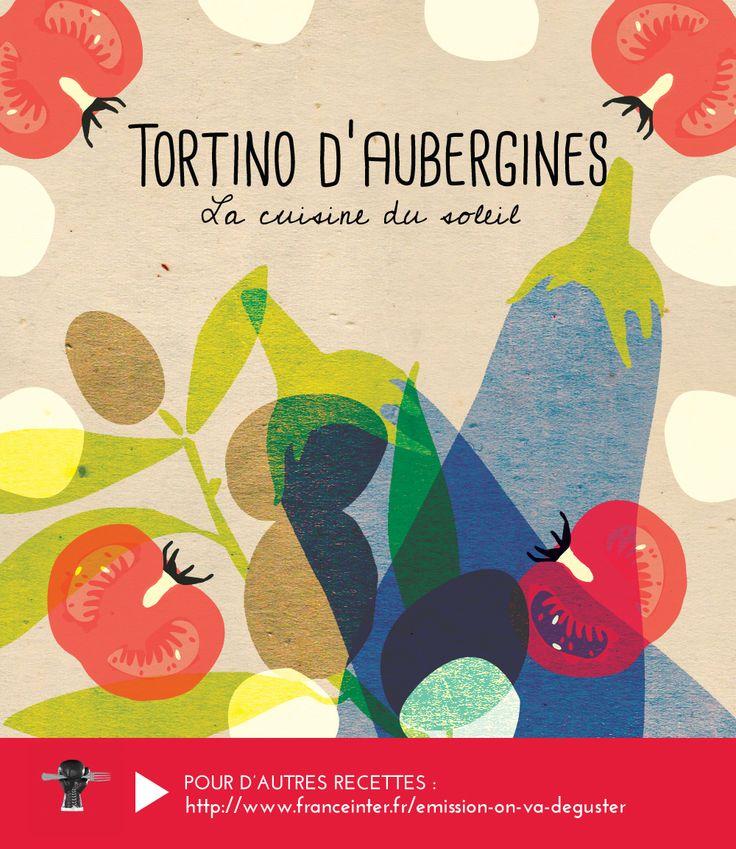 TORTINO D'AUBERGINES : un plat du soleil qui hésite entre la quiche et l'omelette et qui peut se déguster froid ou chaud. RECETTE ICI : http://www.franceinter.fr/emission-on-va-deguster-cuisine-du-soleil-5-eme-volet-la-sicile