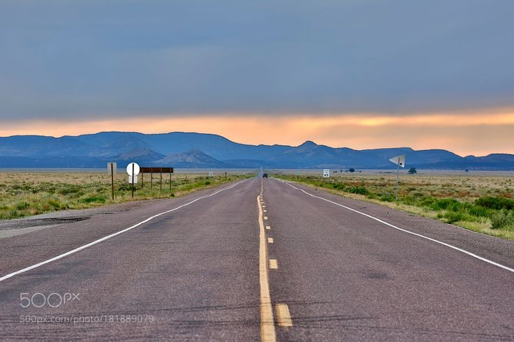 http://500px.com/photo/181889079 Road To Sunset by visbimmer -Highway Near The Very Large Array (VLA) In New Mexico.. Tags: USANew MexicoVLASunset RoadThe Very Large Array