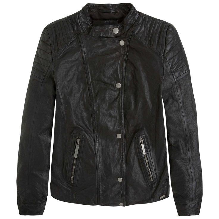 ¡Cómpralo ya!. Cazadora estilo motero, bolsillos, ROCKY. Composición y detalles:Marca: PEPE JEANS.Modelo: ROCKY.Tejido: 100% piel (cordero). , chaquetadecuero, polipiel, biker, ante, antelina, chupa, decuero, leather, suede, suedette, fauxleather, chaquetadecuero, lederjacke, chaquetadecuero, vesteencuir, giaccaincuio, piel. Chaqueta de cuero  de mujer color rojo,negro de Pepe jeans.