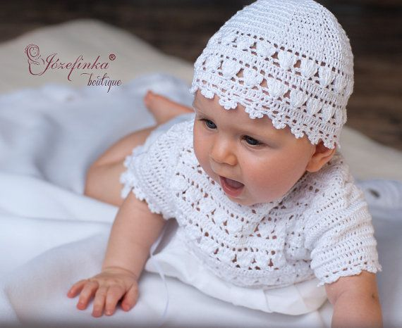 Baby Hat, Crochet Baby Hat, Hat for Baby Girl, Newborn Hat Baby, White Girl Hat,Ecru Hat,Crochet Girl Hat,Christening Hat