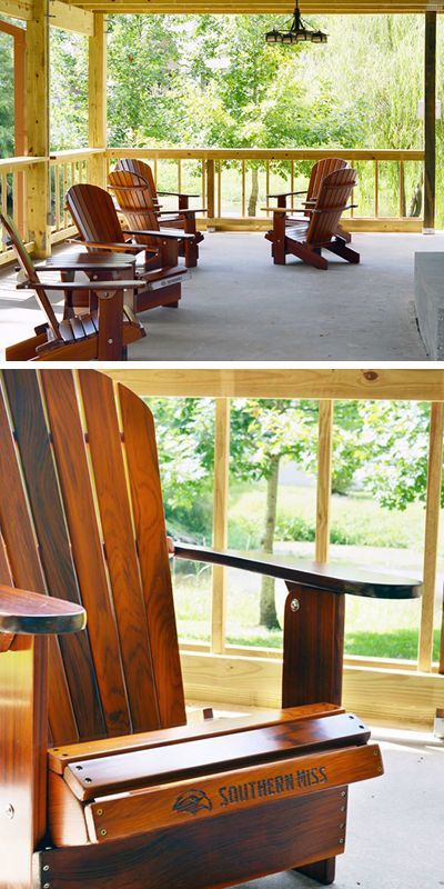 The University of Southern Mississippi uses our Adirondack chairs at their Gulf Park Campus.