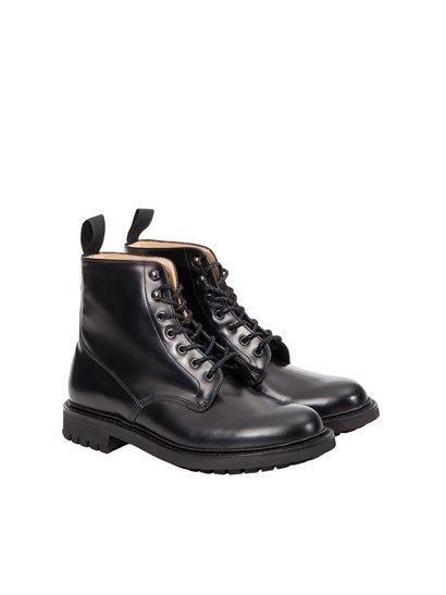 Amphibians black leather with rubber sole.  - Church's - Amphibians Mc Duff