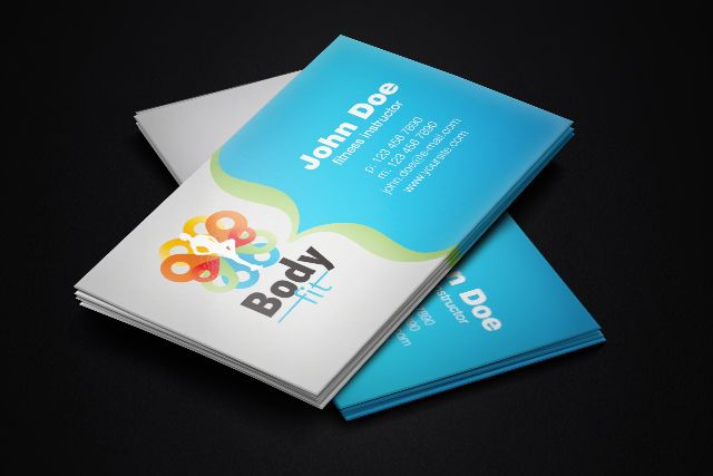 41 best blue business cards templates images on pinterest business clean and elegant free business card template for fitness instructors available for download as vector wajeb Gallery