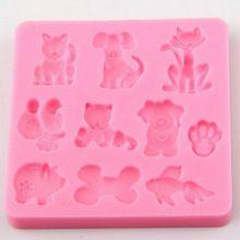 AMW 3D Cartoon Animal Dog Bone Shape Silicone Molds Fondant Cake Decorating Tools Baking Accessories(China (Mainland))