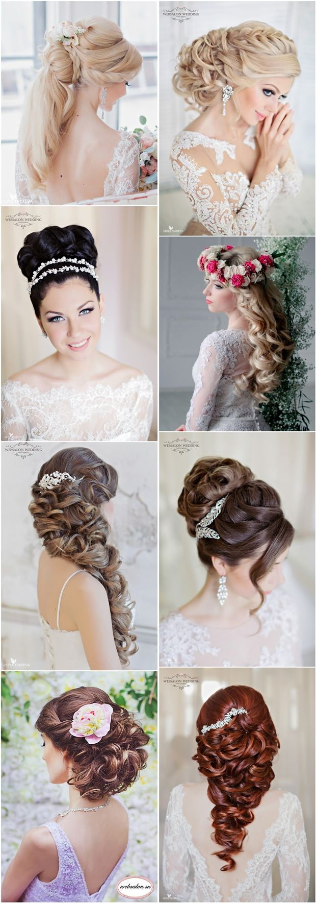 long wedding hairstyle for brides