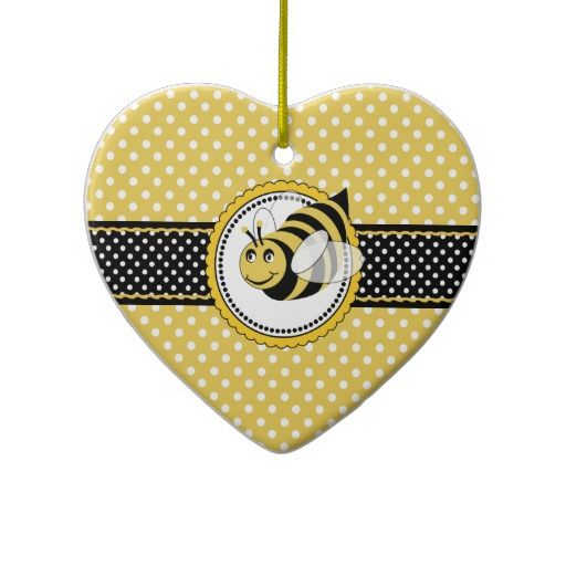Cute Bumble Bee 1st Birthday Party Ceramic Ornament