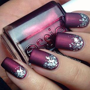 Pretty purple nails with jewels!