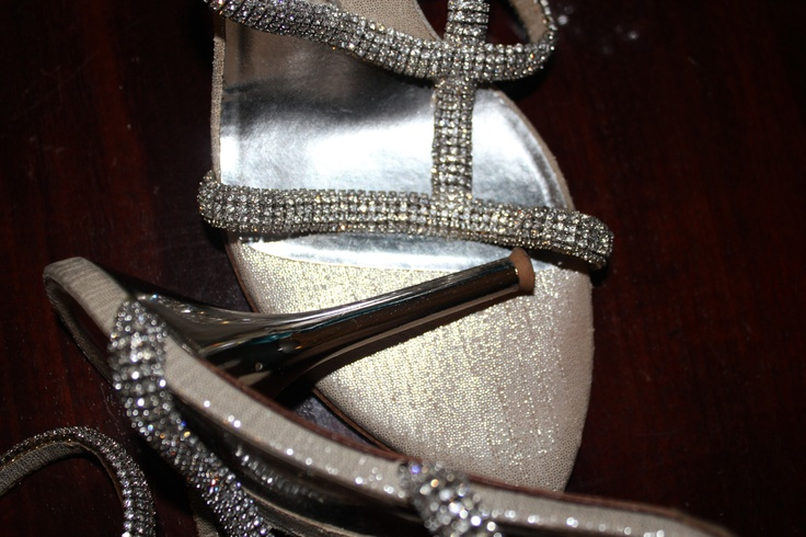 Silver leather and Swarovski Crystals extremely hight heels. Ankle lace www.loriblu.com/...