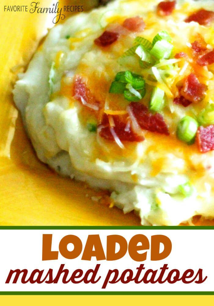 These loaded mashed potatoes with cheese and bacon are our family's favorite recipe to use those extra mashed potatoes from holiday meals or Sunday dinner! via @favfamilyrecipz