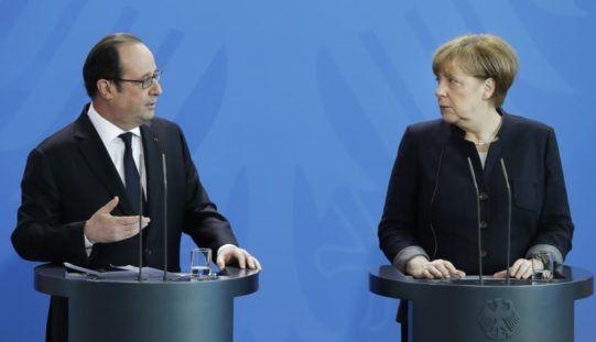 Merkel, Hollande Call for EU Unity Amid New Worries