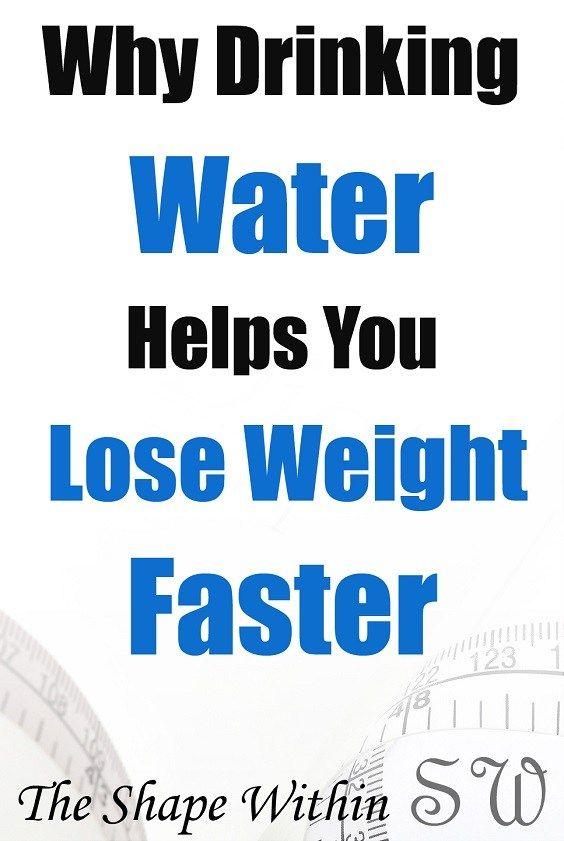 Drinking water helps burn fat