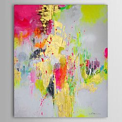 peinture à l'huile abstraite toile peinte à la main 1305-ab0590 | LightInTheBox