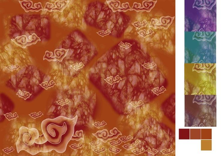 Combine  of batik (mega mendung)