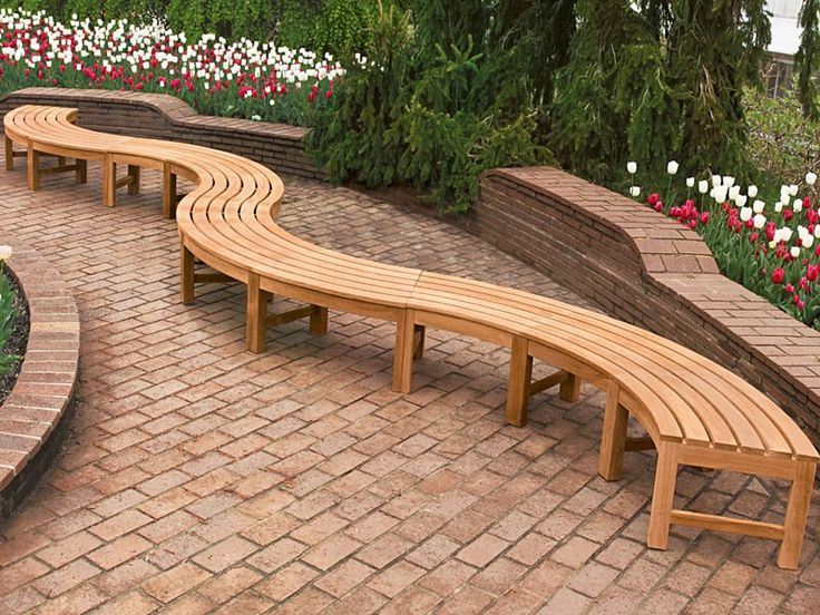 Best 25+ Curved Bench Ideas On Pinterest | Outside Furniture, Tree Deck And  Deck Around Trees
