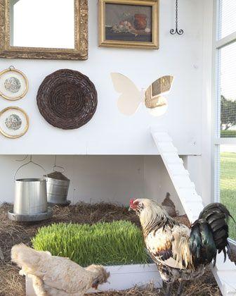 Neiman Marcus 2012 Christmas Fantasy - Beau Coop Interior with wheat grass - http://www.neimanmarcus.com/christmasbook/fantasy.jsp?cid=CBF12_O5415=m,a,b,c,z=cat44770736=The%20Fantasy%20Gifts=Beau%20Coop=CBF12_O5415#