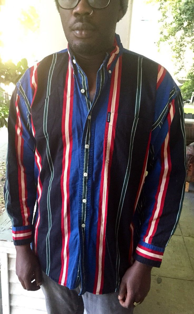 Ralph Lauren striped button up shirt large by Therichesofthepoor on Etsy https://www.etsy.com/listing/292280547/ralph-lauren-striped-button-up-shirt