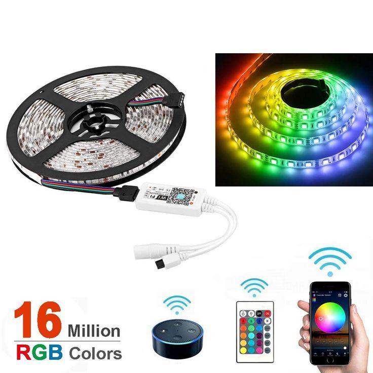 Opard Alexa LED Strips Lights 5m IR Remote WiFi LED Smart