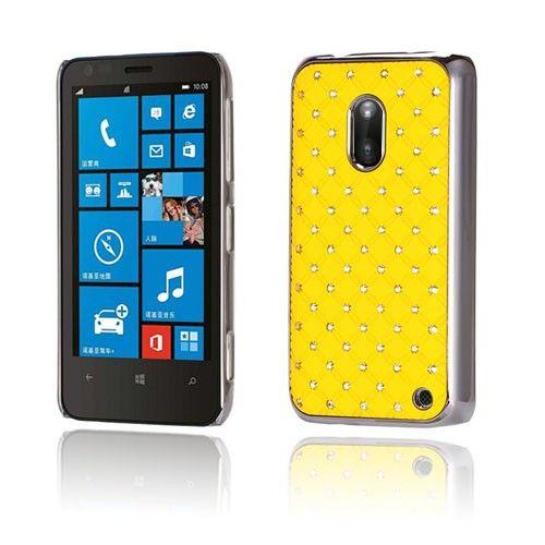 Stars (Keltainen) Nokia Lumia 620 Suojakuori - http://lux-case.fi/stars-keltainen-nokia-lumia-620-suojakuori.html
