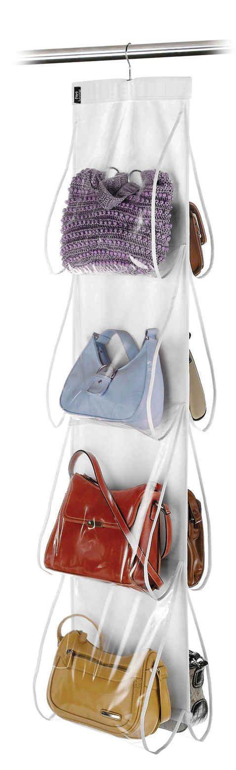 Hängande förvaring för väskor, klar